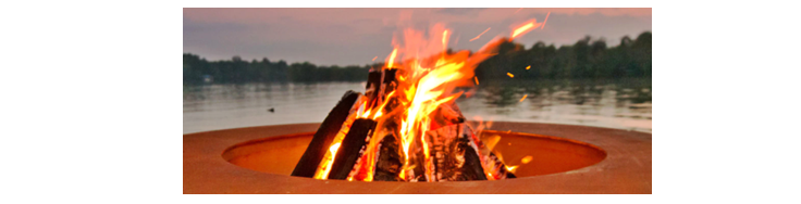 Tepee style fire pit fire build fire safety reference image.