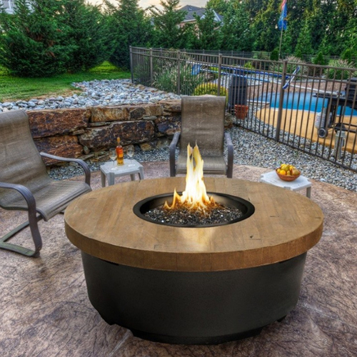 Reclaimed Wood Contemporary Fire Table
