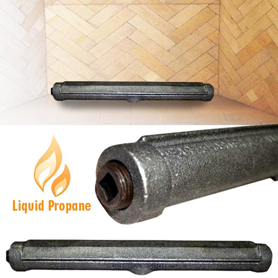 A gas log lighter can help you light a wood burning fire in your fireplace or fire pit!