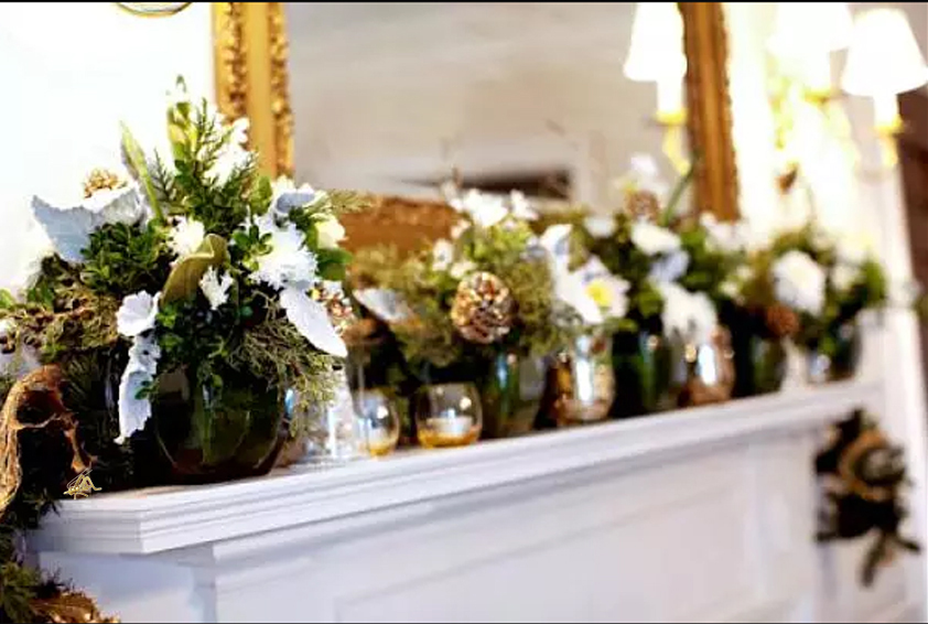 This winter-themed fireplace mantel is great if you're looking for inspiration for the chilly months of the year!