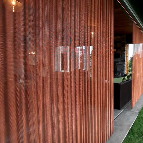 Copper finish outdoor privacy panels