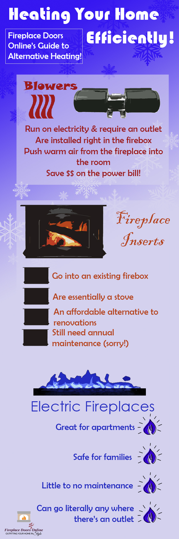 Infographic on heating your home efficiently