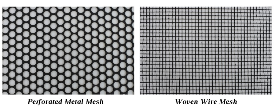 Choose between perforated metal mesh or woven wire mesh for your freestanding fireplace screen.