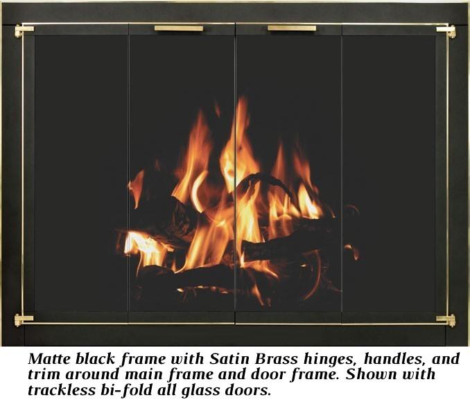 Matte black frame & Satin Brass main frame trim/door frame trim/hinges/handles