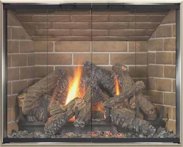 Arcadia fireplace door by Stoll fireplace
