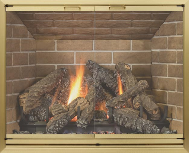 Huntington fireplace door by Stoll fireplace
