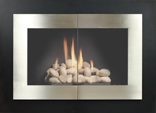 Manhattan fireplace door by Stoll fireplace
