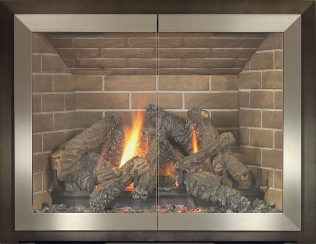Tribeca fireplace door by Stoll fireplace