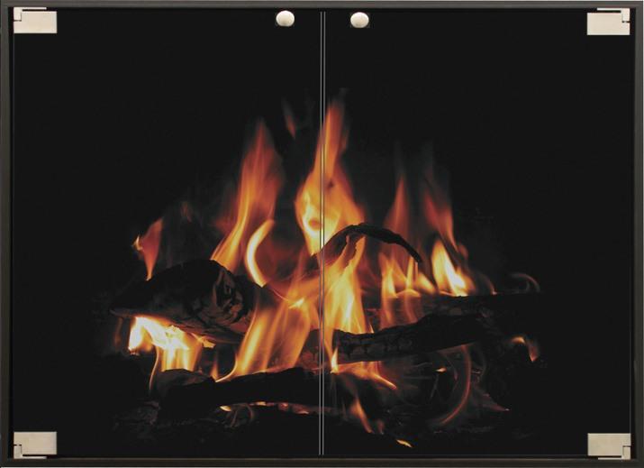 Vanguard Thinline Masonry Fireplace Door in Matte Black