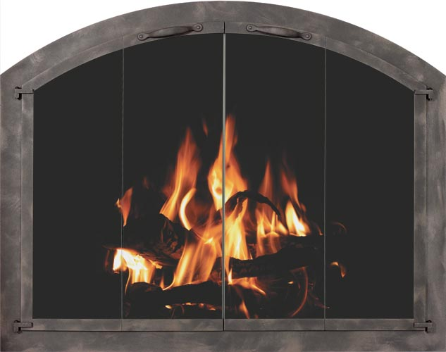 Arched Original fireplace door by Stoll fireplace