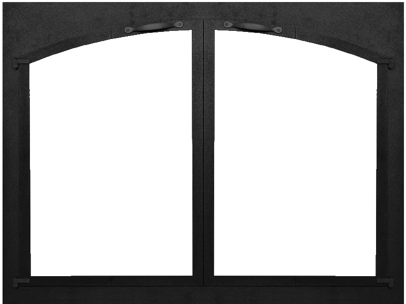 Bar Iron arch conversion fireplace door by Stoll fireplace