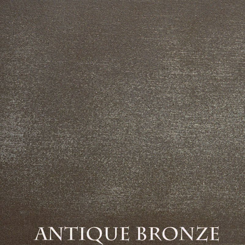 Antique Bronze Premium Finish - two-step hand finished process / actual patterns and coloration of all hand-applied finishes may vary.