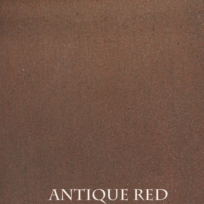 Antique Red Premium Finish - two-step hand finished process/actual patterns and coloration of all hand-applied finishes may vary