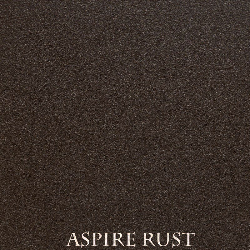 Aspire Rust powder coat finish for fireplace doors