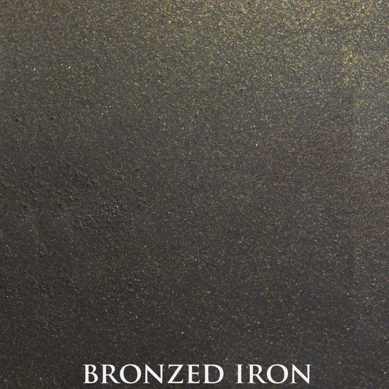 Bronzed Iron powder coat finish for fireplace doors