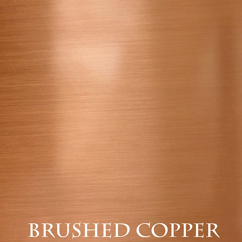 Brushed Copper overlay finish for fireplace doors