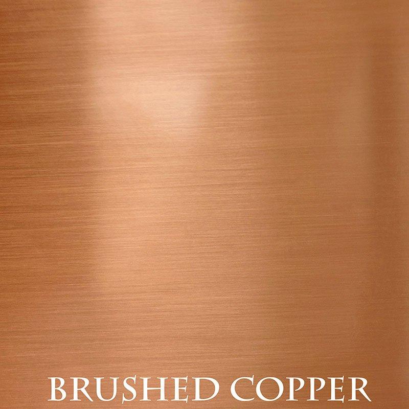 Brushed Copper Finish