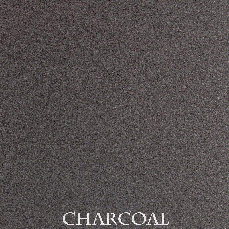 Charcoal powder coat finish for fireplace doors
