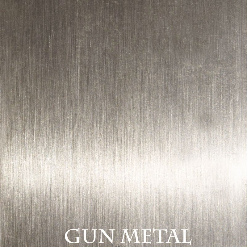 Gun Metal overlay finish for fireplace doors