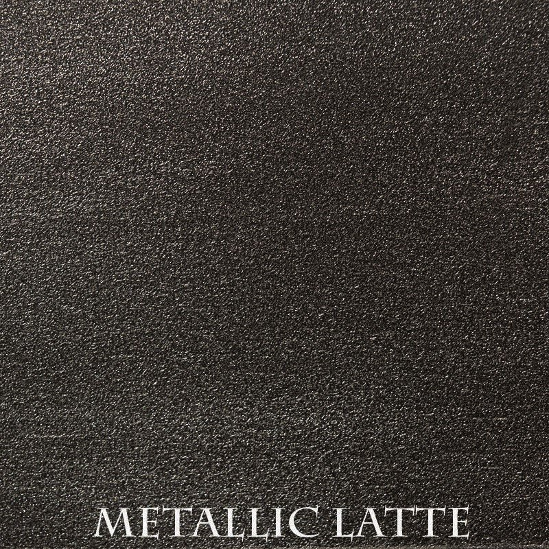 Metallic Latte Premium Finish - two-step hand finished process/actual patterns and coloration of all hand-applied finishes may vary