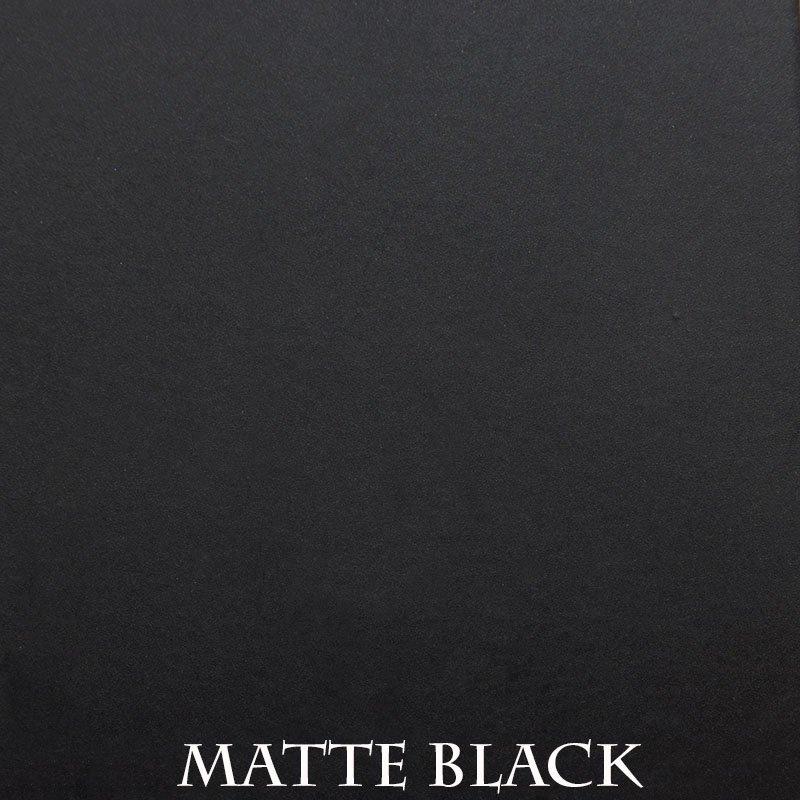 Matte Black Powder Coat Finish