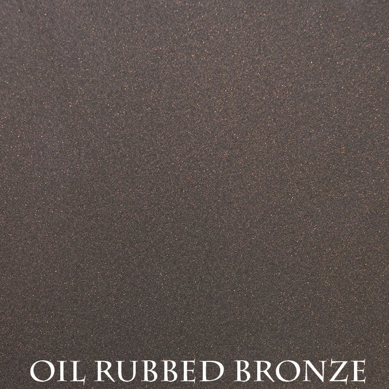 Oil Rubbed Bronze powder coat finish for fireplace doors