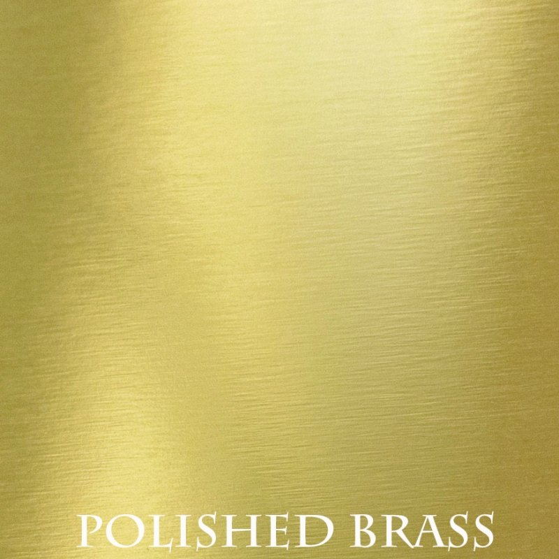 Polished Brass overlay finish for fireplace doors