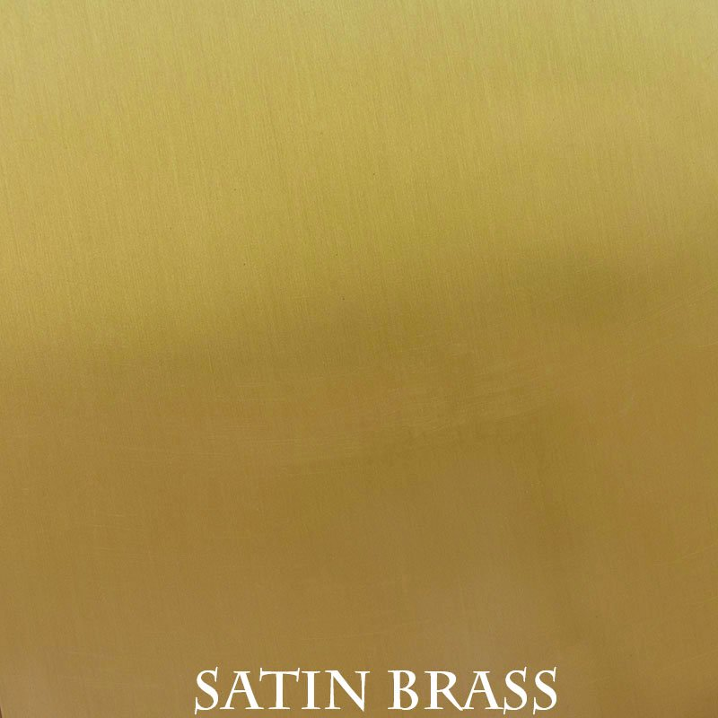 Satin Brass overlay finish for fireplace doors