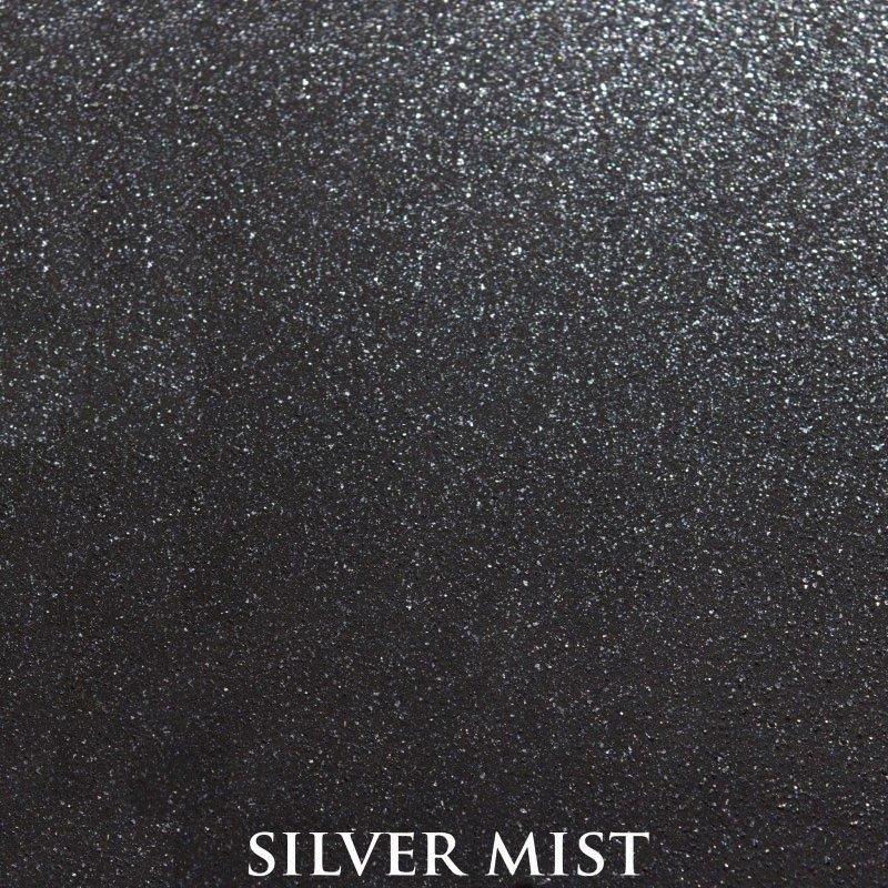 Silver Mist Powder Coat Finish