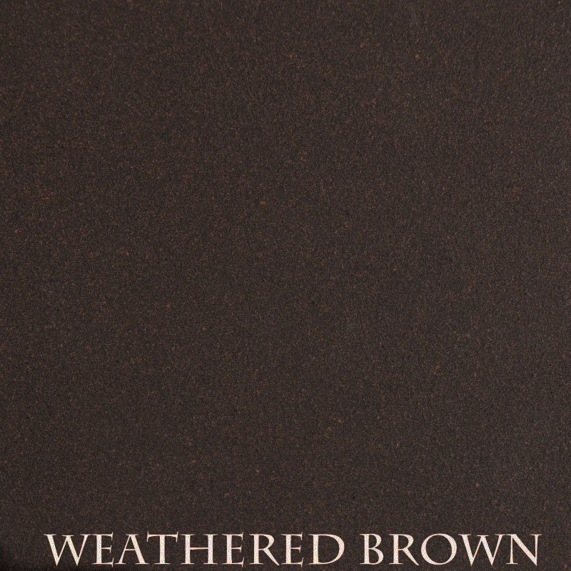 Weathered Brown powder coat finish for fireplace doors
