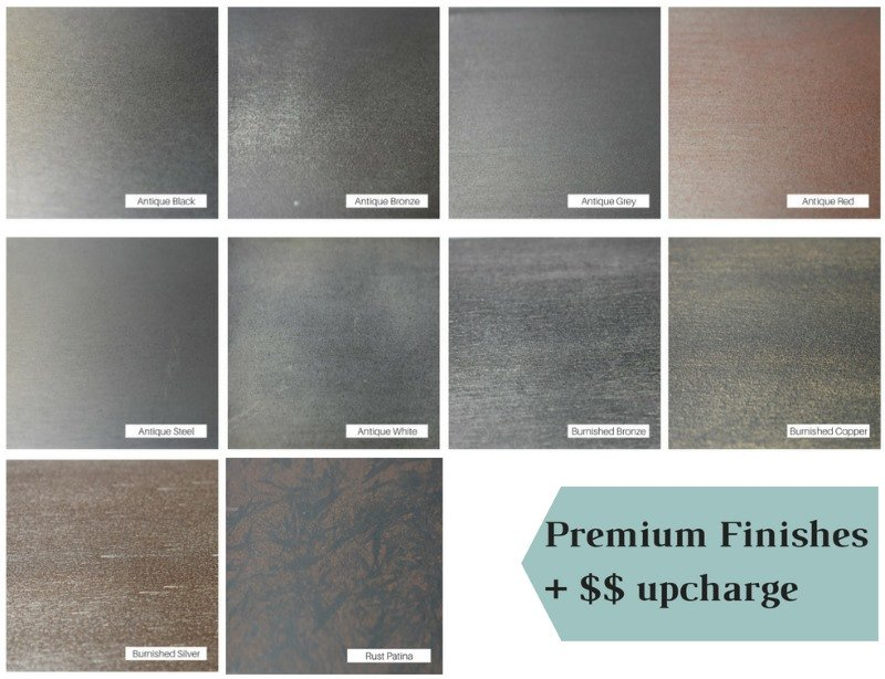 Premium finish colors
