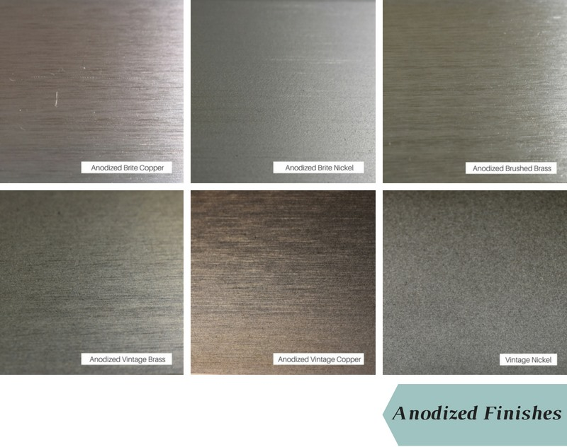 Anodized finish colors