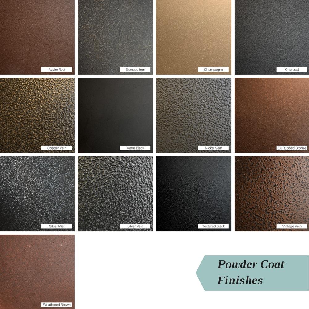Powder coat finish colors