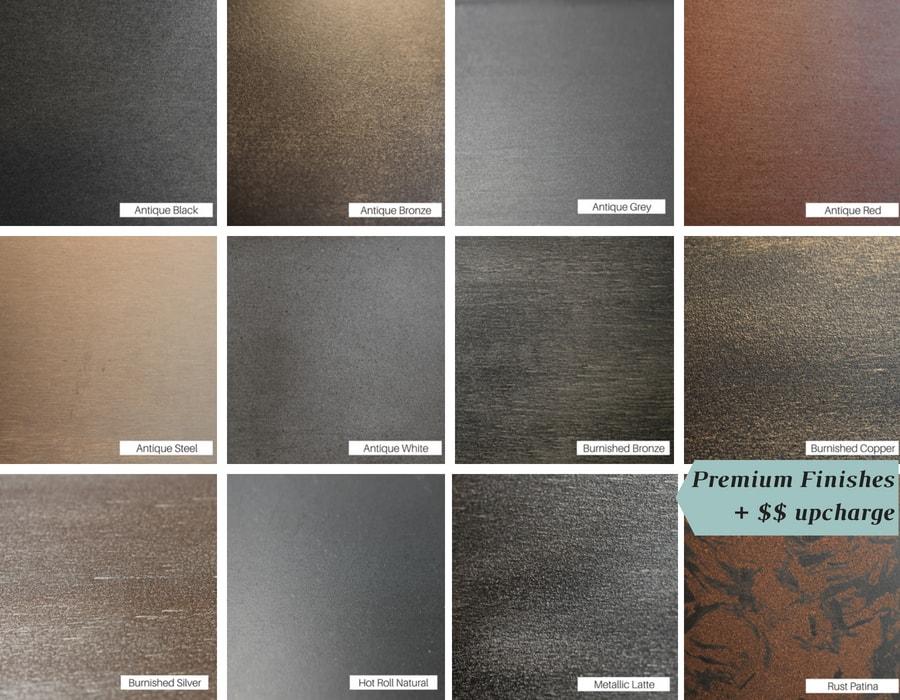Premium finish colors