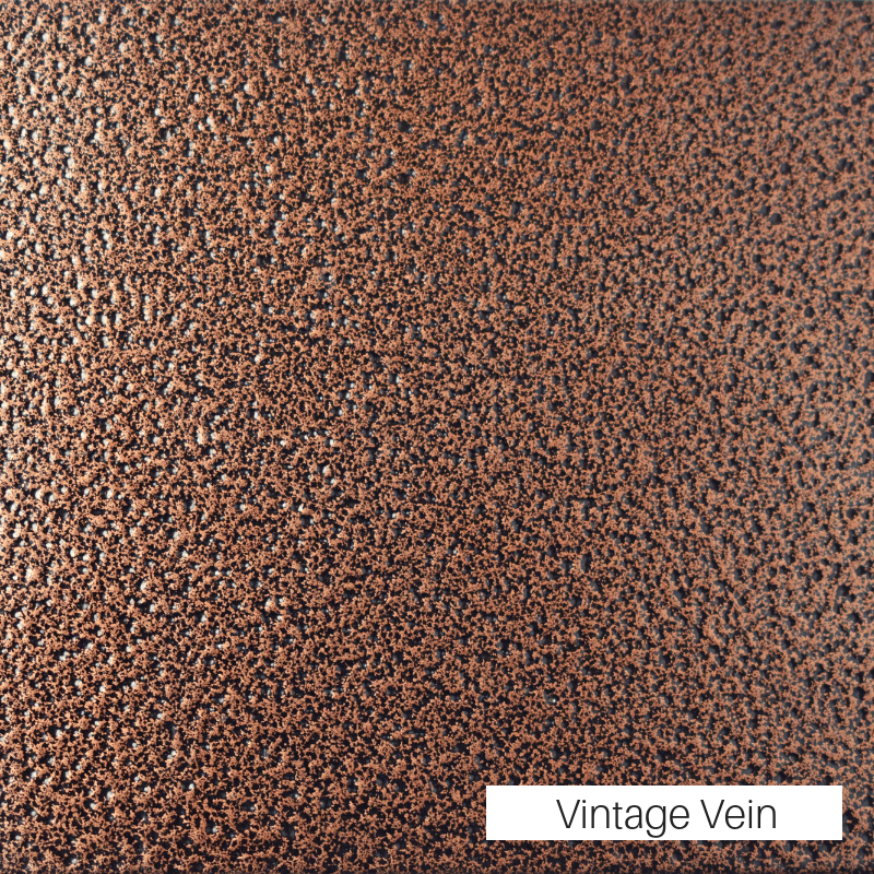 Vintage Vein powder coat finish for fireplace doors