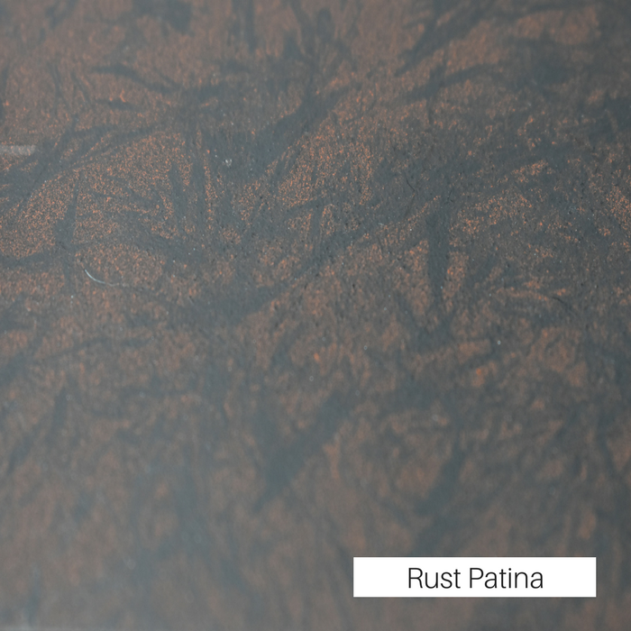 Rust Patina premium finish for fireplace doors