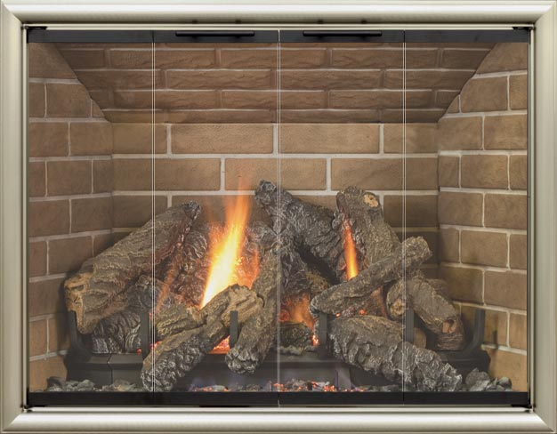 Coronado fireplace door by Stoll fireplace