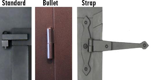 Custom hinge selection from Custom Metal Company