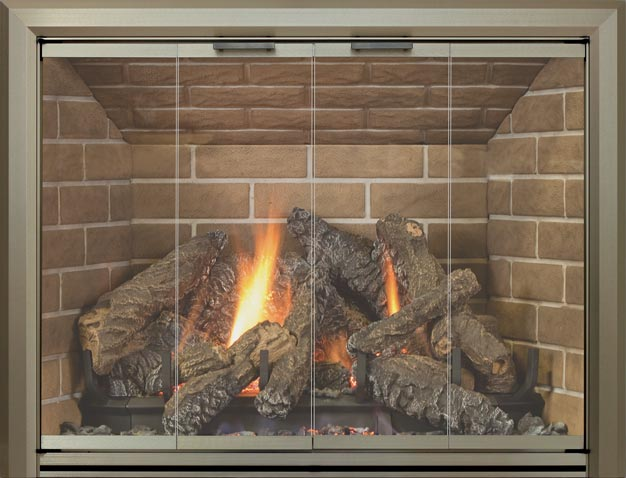 Lancaster fireplace door by Stoll fireplace