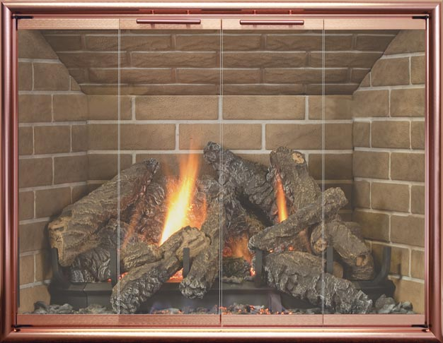 Stockton fireplace door by Stoll fireplace