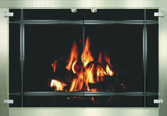 Total View fireplace door by Stoll fireplace