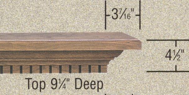 Specs - Atherton fireplace mantel shelf
