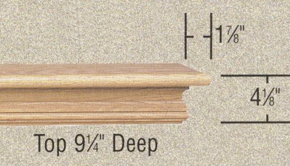 Specs - Heatherly Natural Wood fireplace mantel shelf