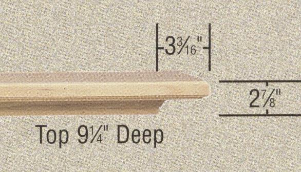 Specs - Ives fireplace mantel shelf