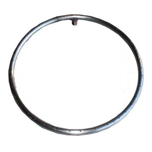 Top Fires Single Ring Round Fire Pit Burner Stainless Steel - 12 to 48 inches