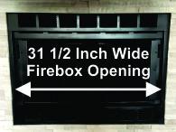 "31 1/2"" Wide Majestic Fireplace"