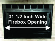 "31 1/2"" Wide Martin Fireplace"