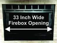 "33"" Wide Majestic Fireplace"