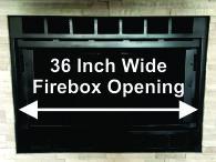 """36"""" Wide Heat-N-Glo Fireplace"""