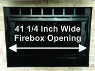 "41 1/4"" Wide Martin Fireplace"